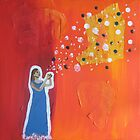 Goddess Releasing Magic Fine Art Painting by epitomegirl