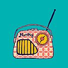 Vintage radio, retro funky geometric by MagentaRose