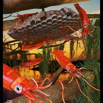Ocean Invasion #8: Tending the Squid Hive by LaughingMantis