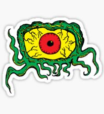 Crawling Eye Monster Sticker