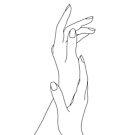 Hände Strichzeichnung - Dia von TheColourStudy