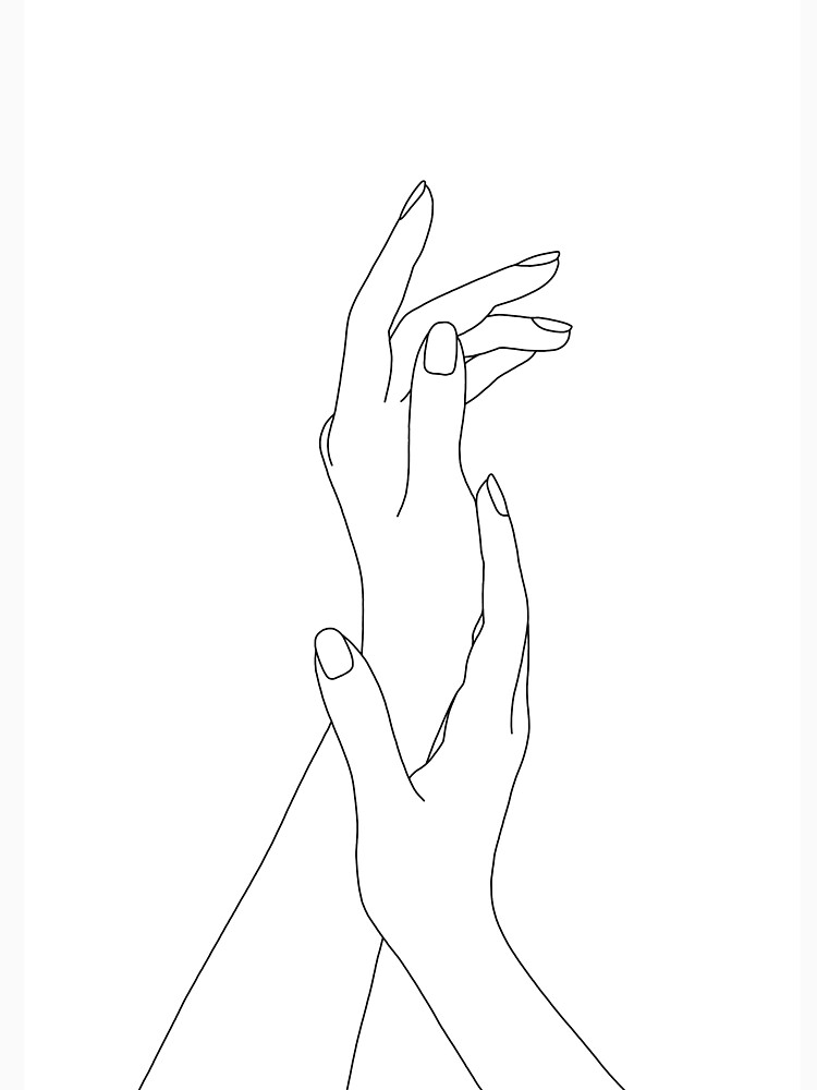 Hands line drawing - Dia by TheColourStudy