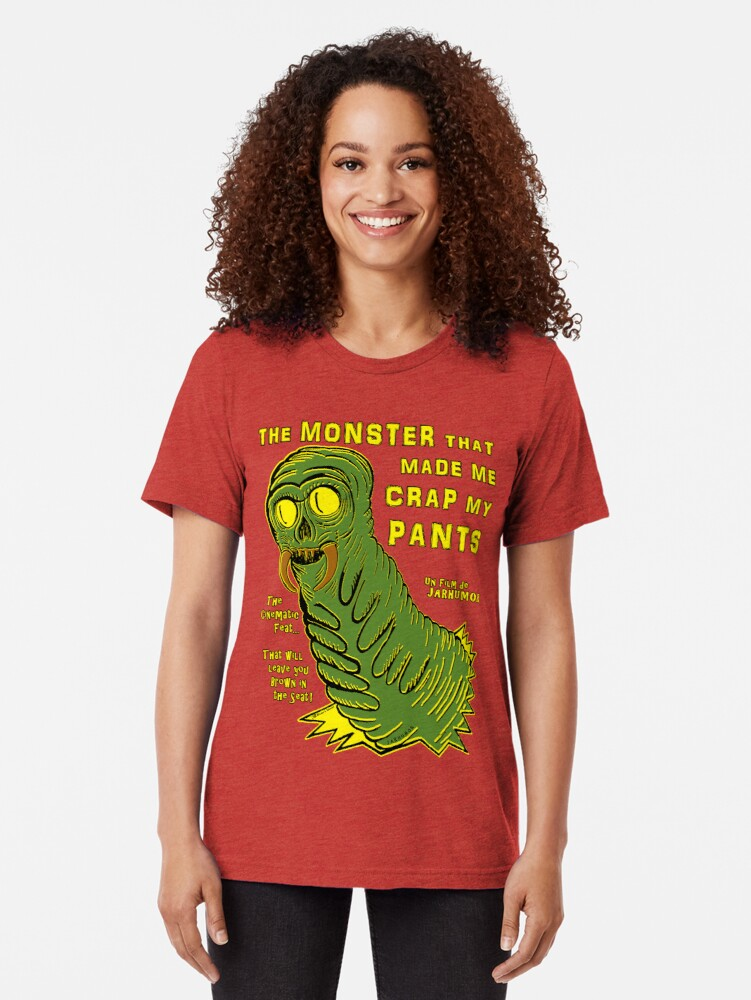 Alternate view of The Monster That... Tri-blend T-Shirt