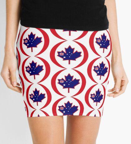 Australian Canadian Multinational Patriot Flag Series Mini Skirt