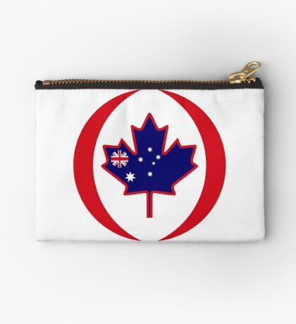 Australian Canadian Multinational Patriot Flag Series Zipper Pouch