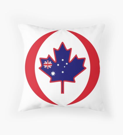 Australian Canadian Multinational Patriot Flag Series Throw Pillow