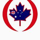 Australian Canadian Multinational Patriot Flag Series by Carbon-Fibre Media