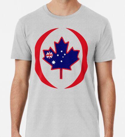 Australian Canadian Multinational Patriot Flag Series Premium T-Shirt