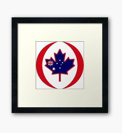 Australian Canadian Multinational Patriot Flag Series Framed Print