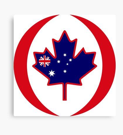 Australian Canadian Multinational Patriot Flag Series Canvas Print