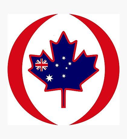 Australian Canadian Multinational Patriot Flag Series Photographic Print
