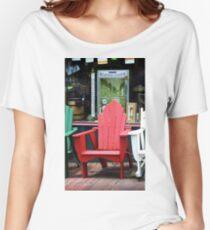 Jonesborough, Tennessee - Comfy Chair Women's Relaxed Fit T-Shirt