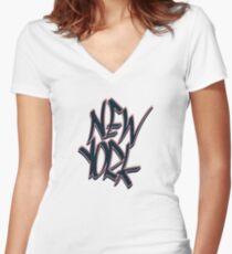 New York Fitted V-Neck T-Shirt