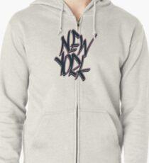 New York Zipped Hoodie