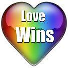 """Love wins"" rainbow heart by bmgdesigns"