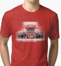 1932 Ford Roadster Red and Black Convertible Tri-blend T-Shirt