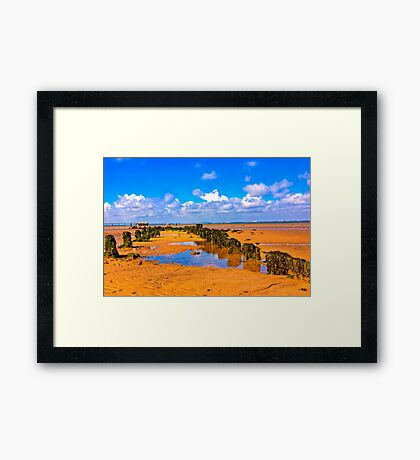 When the Tide is Out Framed Print
