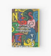 Happiness is Power - Be Happy Now - Live in the Present - Yes Hardcover Journal