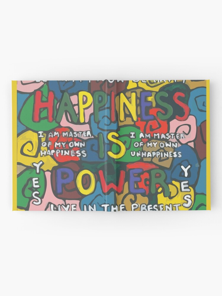 Alternate view of Happiness is Power - Be Happy Now - Live in the Present - Yes Hardcover Journal