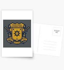 Traditional Catholic Men Coat of Arms Postcards
