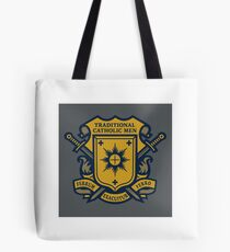 Traditional Catholic Men Coat of Arms Tote Bag