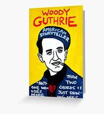 Woody Guthrie Folk Art Greeting Card