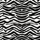 Zebradruck - Schwarze Tinte von Cat Coquillette