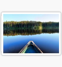 Canoeing on Lonely Lake Sticker