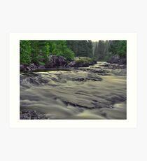 Whitefish River Art Print