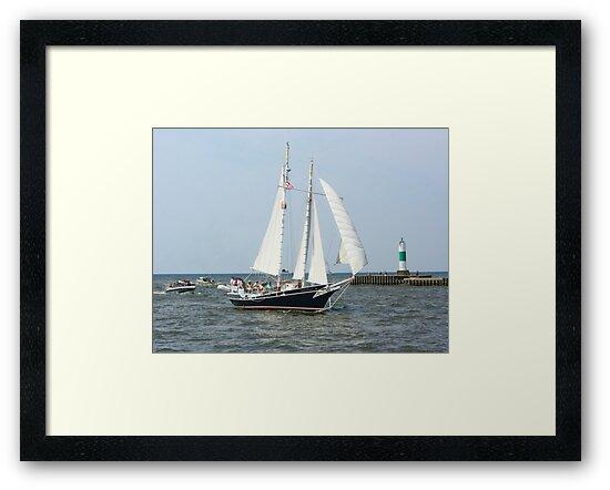 Lake Michigan Schooner by Karen K Smith