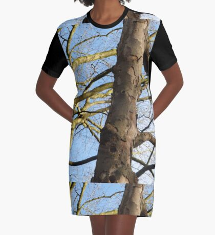 Boomstam Vertakkend Graphic T-Shirt Dress