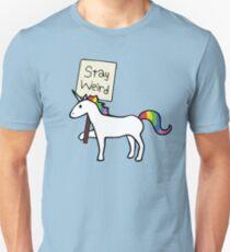 Stay Weird, Unicorn Slim Fit T-Shirt