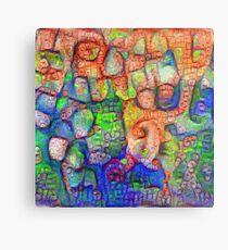 #Deepdreamed abstraction Metal Print
