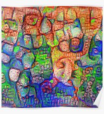 #Deepdreamed abstraction Poster