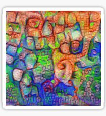 #Deepdreamed abstraction Glossy Sticker