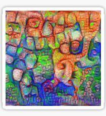#Deepdreamed abstraction Sticker