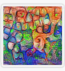 #Deepdreamed abstraction Transparent Sticker