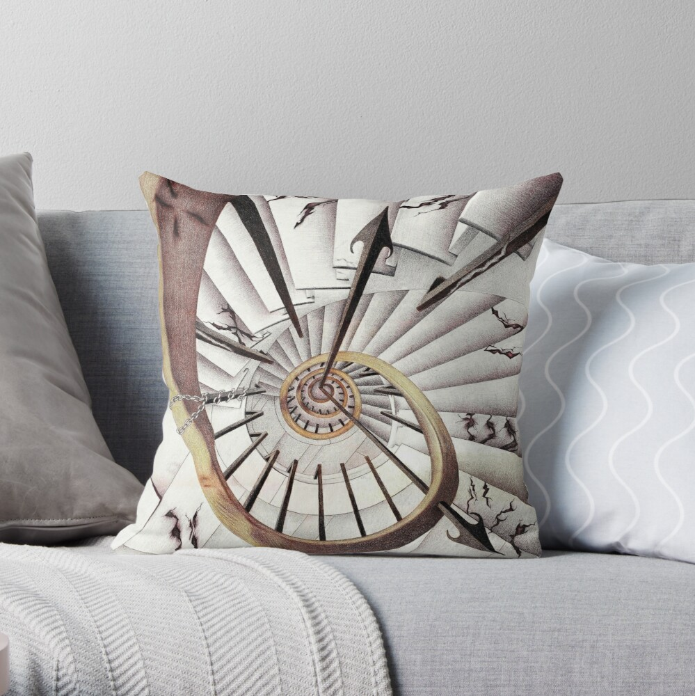 Stopping Time Throw Pillow
