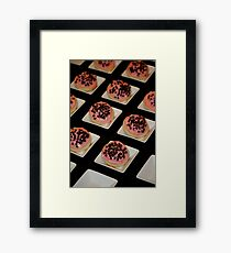 Sugar Cookies with Chocolate Chip Almond Icing Framed Print