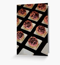 Sugar Cookies with Chocolate Chip Almond Icing Greeting Card