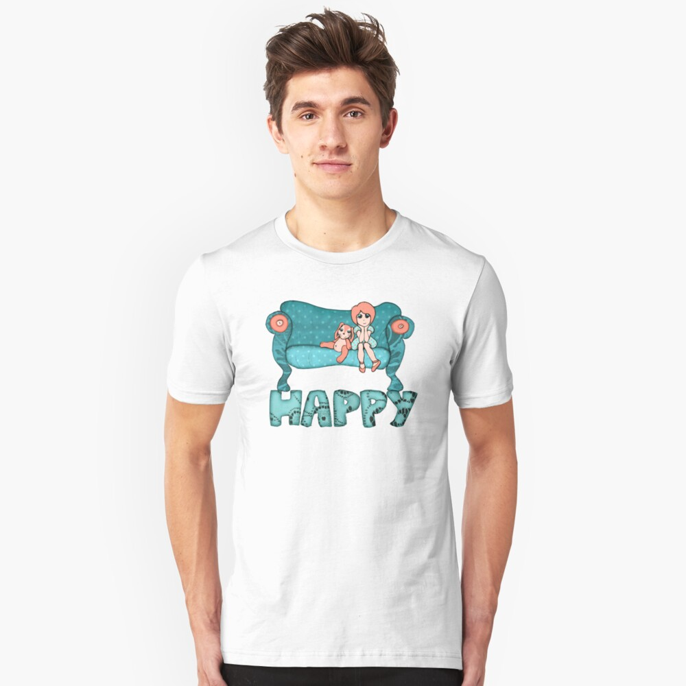 Happy Unisex T-Shirt Front
