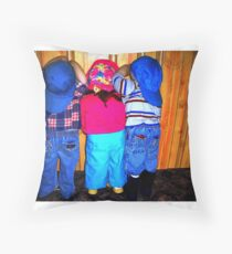 Ready or Not, Here We Come!!! Throw Pillow