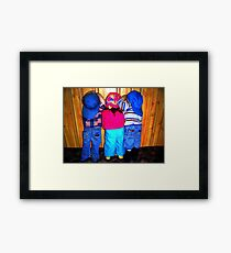 Ready or Not, Here We Come!!! Framed Print