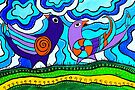 Retro Birds by Kayleigh Walmsley