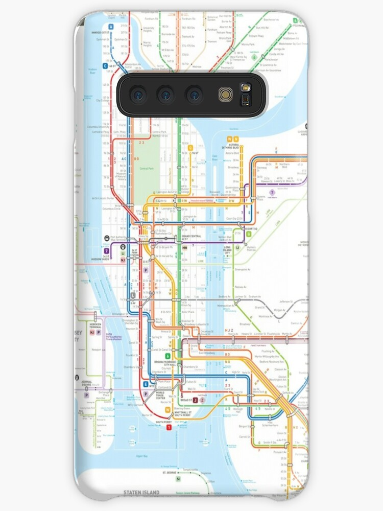 New York Subway Map Mobile.New York City Subway Map Case Skin For Samsung Galaxy By Jug Cerovic