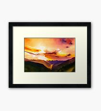 Mountain landscape painting  Framed Print