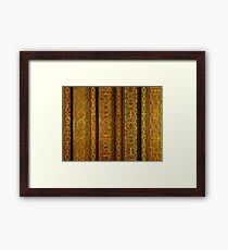Looking up in the Alhambra Framed Print