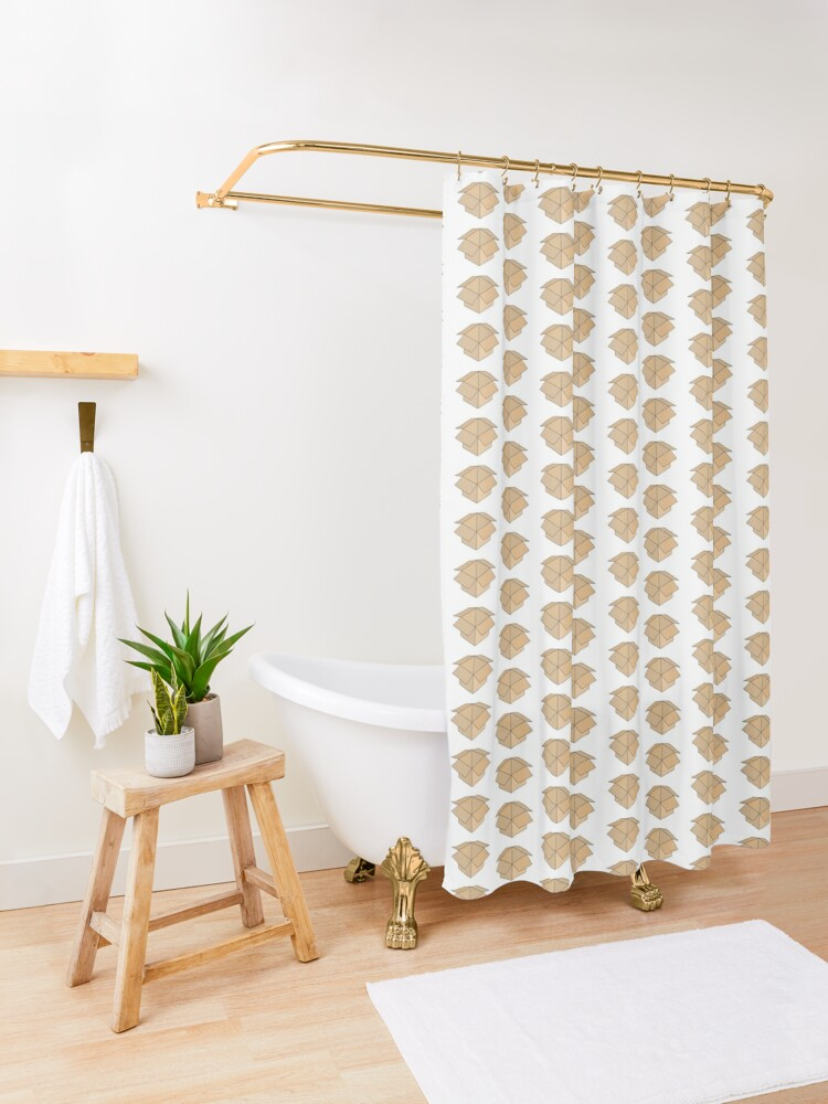 Alternate view of Open Box Line Drawing Shower Curtain