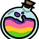 Lesbian Pride Potion Bottle by renniequeer