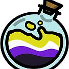 Nonbinary Pride Potion Bottle by renniequeer